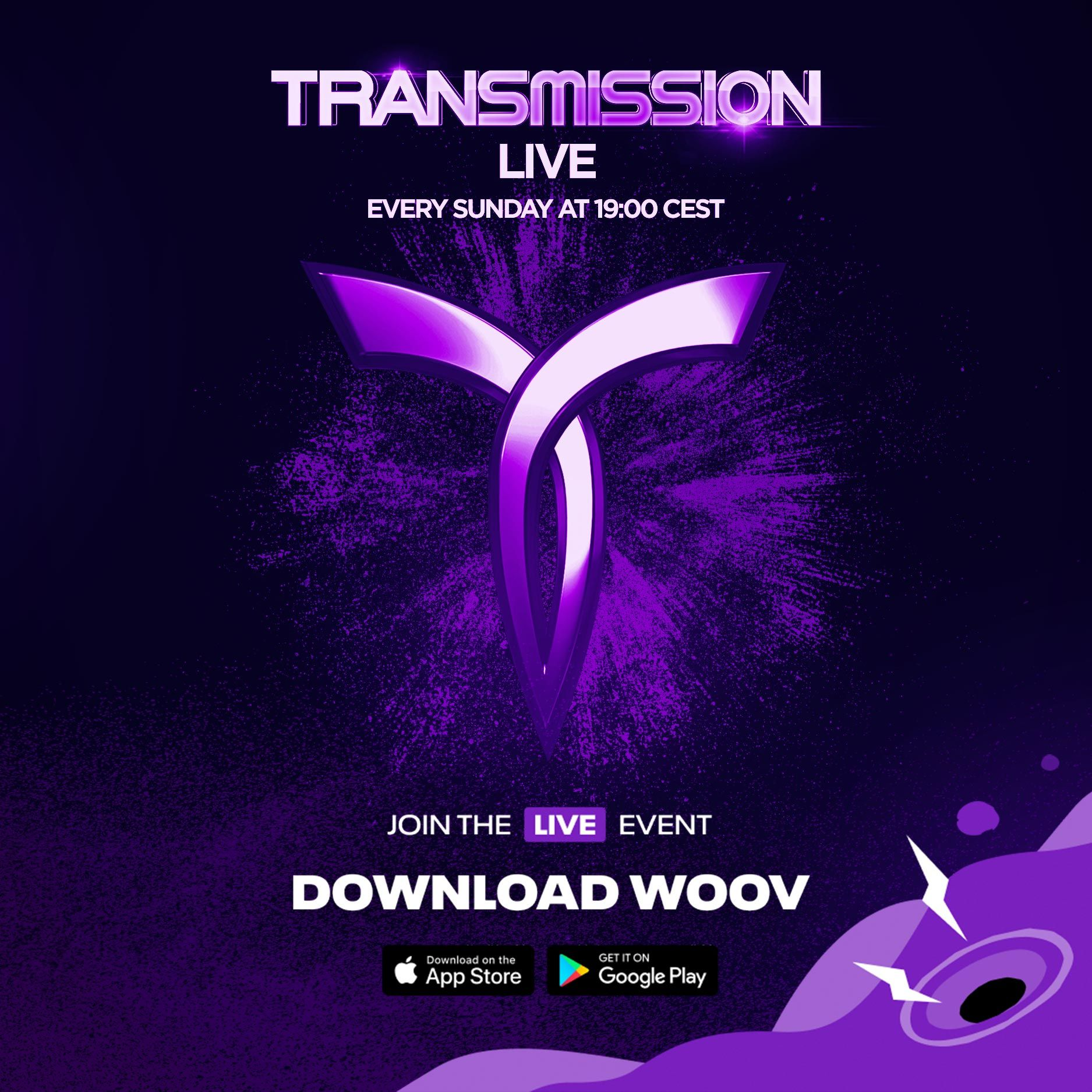 Staňte se součástí Transmission LIVE a zapařte si v pohodlí svého obýváku